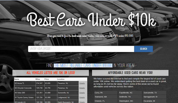 best cars under 10k by Sleep Easy Branding